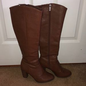 Brown Leather Boots w/ Heel